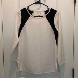 NWOT J.Crew black and white blouse 00